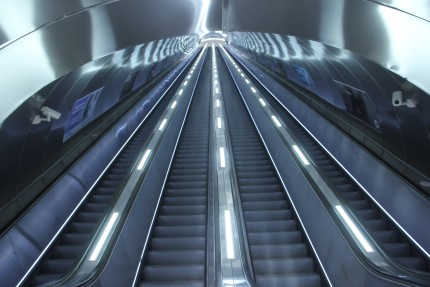100-meter long escalators installed in Azerbaijan