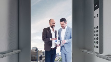 Two new elevator product lines 'synergy' and 'evolution' for low- and mid-rise buildings in Europe